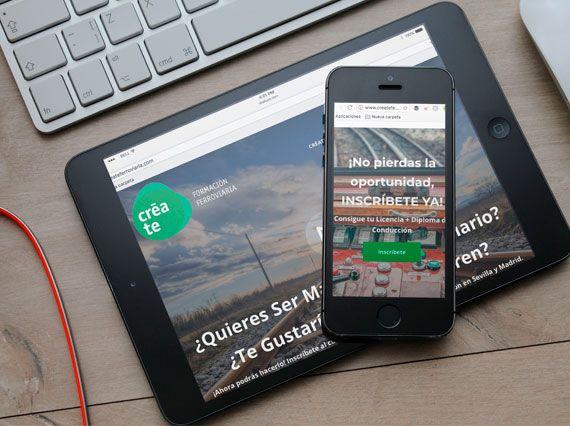 Campaña de publicidad on line para Créate Ferroviario