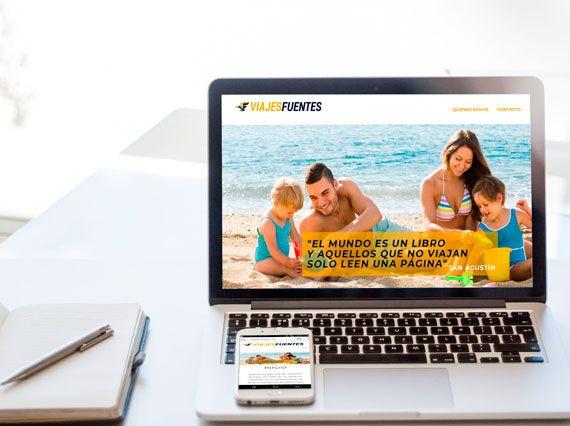 Diseño de blog para Viajes Fuentes