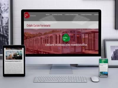 Diseño Página Web para Créate Formación